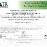 Certificación OSHAS-18001 otorgada a Automatización y Control Scale S.A. de C.V.