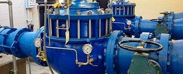 Válvulas hidráulicas utilizadas en un sistema de agua potable