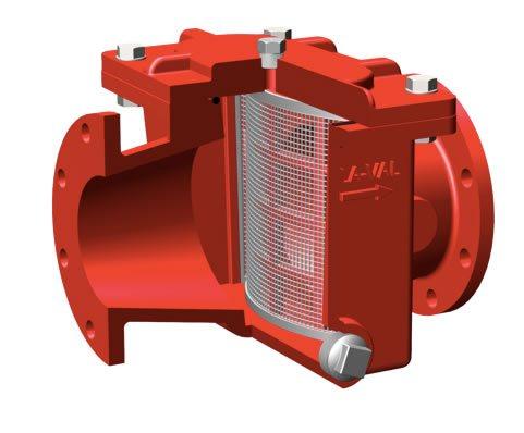 Imagen de un accesorio para red contra incendios en mantenimiento