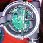 Fotografía del interior de un detector de oxígeno