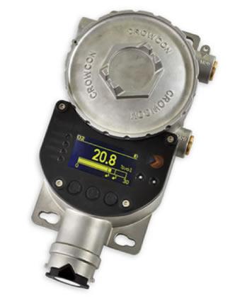 Imagen de un detector de gas fijo en mantenimiento