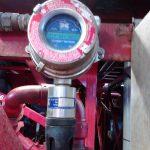Fotografía de un detector de gases instalado