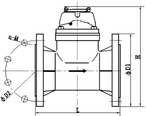 Diagrama de partes de un medidor de agua