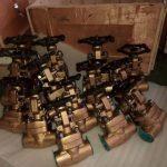Foto de unas válvulas de compuerta para control de agua
