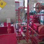 Fotografía de las instalaciones de un sistema contra incendios
