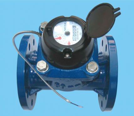 Fotografía de un medidor de agua con sensor de medición