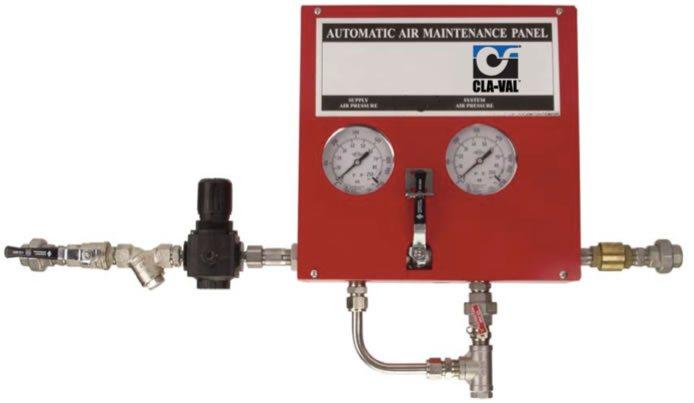 Imagen de un panel de regulación automática con otros accesorios para red contra incendios