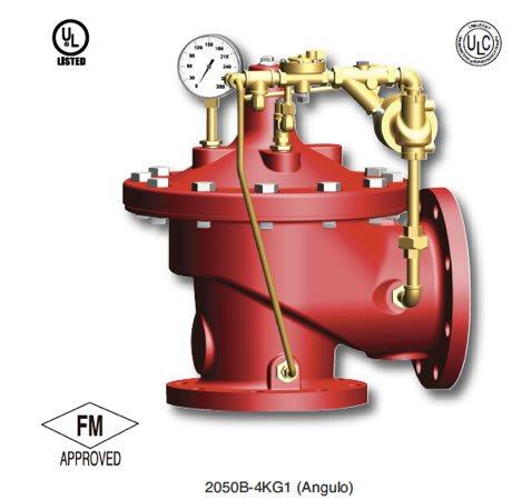 Fotografía de una válvula de alivio de presión marca claval contra incendios