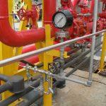 Instalación de un sistema contra incendios con válvulas de alivio