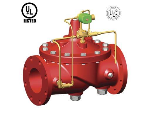 Imagen de una válvula contra incendiosde diluvio operada por solenoide