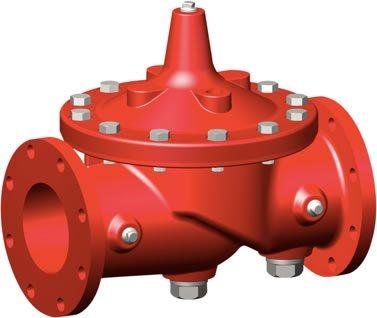 Foto de una válvula para sistemas contra incendios