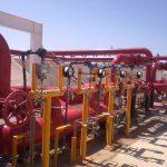 Foto de un sistema de protección contra incendios con válvulas reductoras de presión y otras válvulas contra incendios