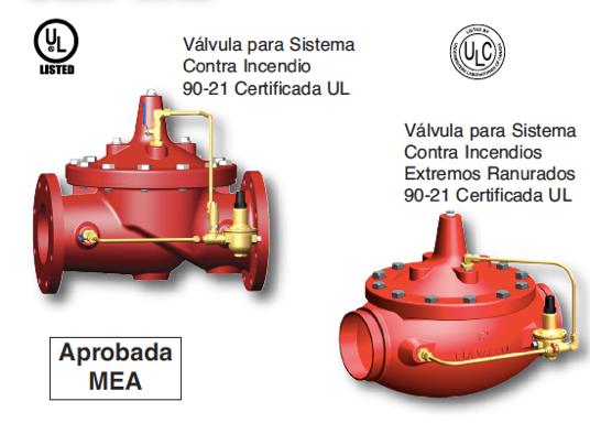 Imagen de válvulas reductoras de presión certificadas para sistemas contra incendios