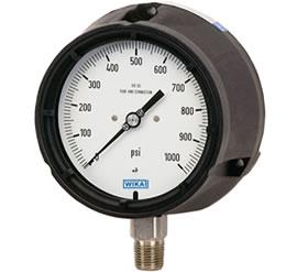 Foto de un manómetro indicador de presión