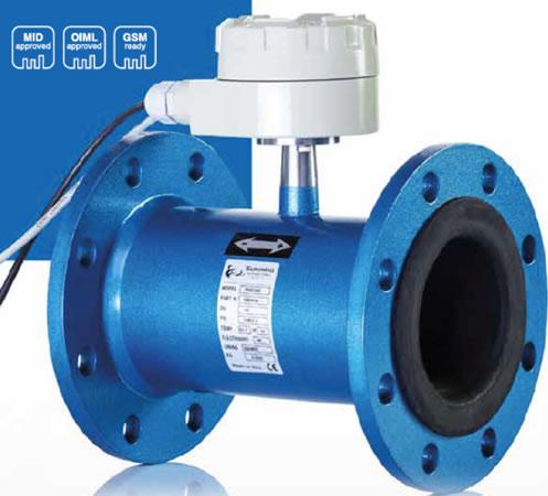 Imagen de un medidor de agua industrial electromagnético