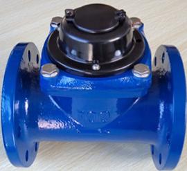 Foto de un medidor de agua industrial