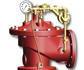 Foto de una válvula de alivio de presión para sistemas contra incendios