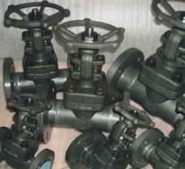 Foto de varias válvulas de compuerta