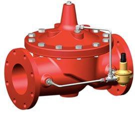 Imagen de una válvula reductora de presión contra incendios